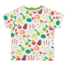 Piccalilly Grow Your Own All Over Print White T-shirt