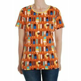Adult Duns Pumpkin Ice Cream Short Sleeve Top