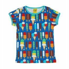 Duns Ice Cream Blue Short Sleeve Top