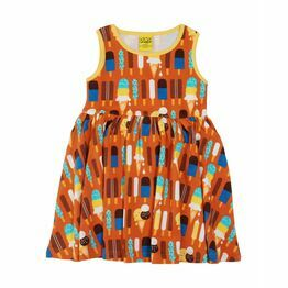 Duns Ice Cream Pumpkin Sleeveless Gather Dress