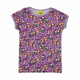 Duns Meadow Purple short sleeve top