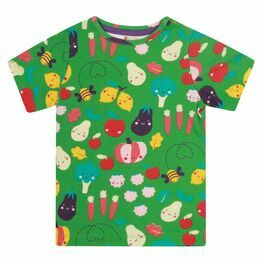 Piccalilly Grow Your Own All Over Print Green T-shirt
