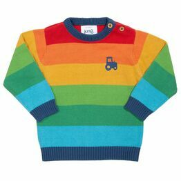 Kite Rainbow Stripe Tractor Jumper