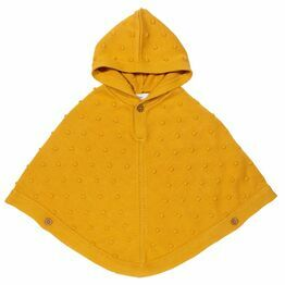 Kite Polka Dot Bobble Knit Poncho - Yellow