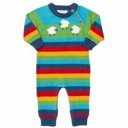 Kite Sheepy Days Rainbow Knit Romper Suit