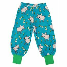 Duns Teal Pigs Baggy Pants