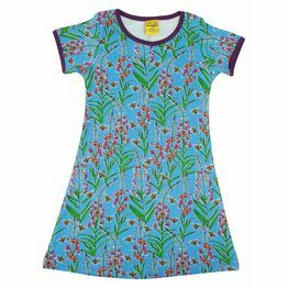 DUNS Willowherb Blue Short Sleeve A-Line Dress