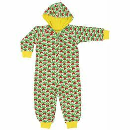 Duns Radish Green Hooded Onesie