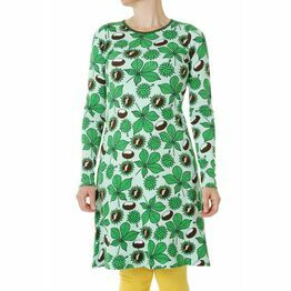 DUNS Adult Chestnut Green Long Sleeve A-Line Dress