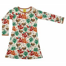 DUNS Adult Rowanberry Mother of Pearl Long Sleeve A-Line Dress