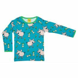 Duns Pig Teal Long Sleeve Top