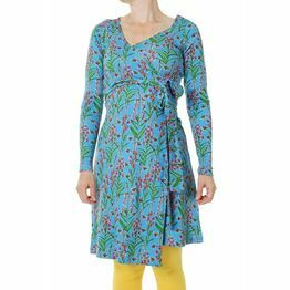 DUNS Adult Willowherb  Blue Long Sleeve Wrap Dress
