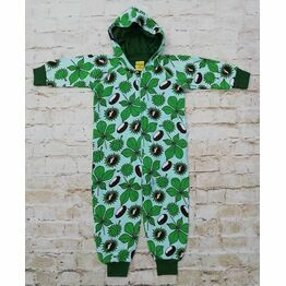 Duns Chestnut Green Hooded Onesie