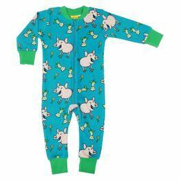 Duns Pig Teal Zip Suit