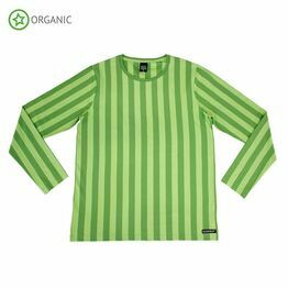 Villervalla Adult Long Sleeve Top Stripes, Turtle