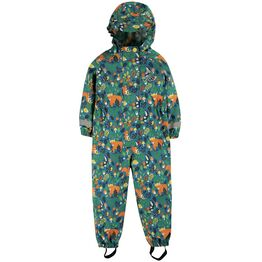 Frugi Rain Or Shine Suit - Loch Blue Woodland Critters