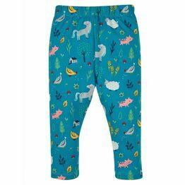 Frugi Libby Printed Leggings, Farmyard