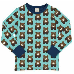 Maxomorra Bear Long Sleeve Top