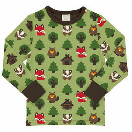 Maxomorra Green Forest Long Sleeve Top