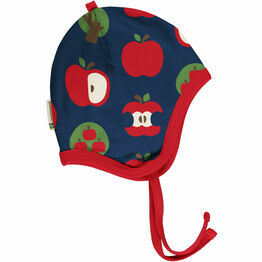 Maxomorra Apple Velour-Lined Helmet Hat