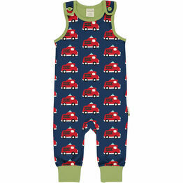 Maxomorra Fire Truck Playsuit
