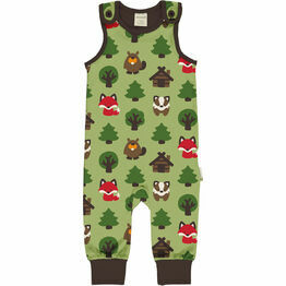 Maxomorra Green Forest Playsuit