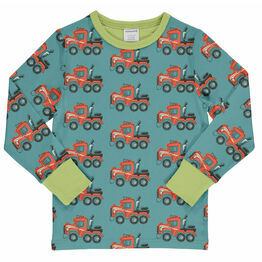 Maxomorra Highway Truck Long Sleeve Top