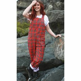 Run & Fly Tartan Stretchy Twill Dungarees