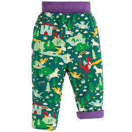 Frugi Rory Reversible Pull Ups - Scots Pine Fairytale