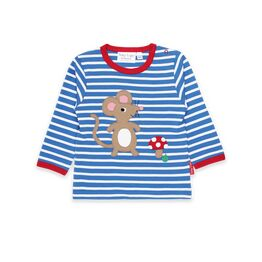 Toby Tiger Organic Mouse and Mushroom Applique T-Shirt