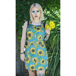 Run & Fly Sunflower Twill Pinafore