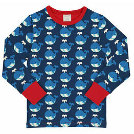 Maxomorra Whale Long Sleeve Top
