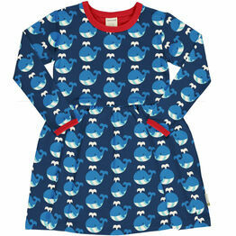 Maxomorra Whale Spin Dress