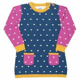 Kite Long Sleeved Little Heart Knit Dress