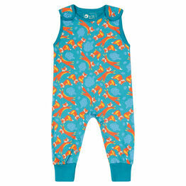 Piccalilly Kid's Foxes Print Dungarees