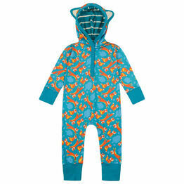 Piccalilly Foxes Baby & Toddler Hooded Playsuit