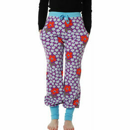 DUNS Adult Flower Amethyst Baggy Pants