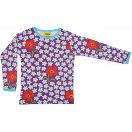 DUNS Flower Amethyst Long Sleeve Top