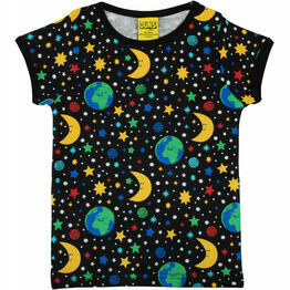 DUNS Mother Earth Black Short Sleeve Top