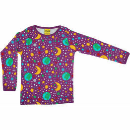 DUNS Mother Earth Bright Violet Long Sleeve Top