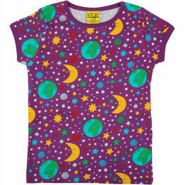 DUNS Mother Earth - Bright Violet  Short Sleeve Top