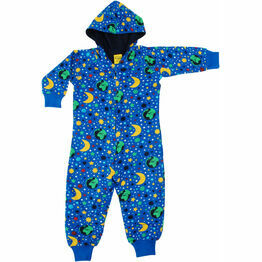 DUNS Mother Earth Blue Hooded Onesie