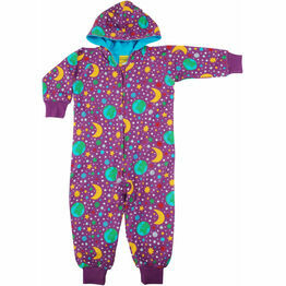 DUNS Mother Earth Bright Violet Hooded Onesie