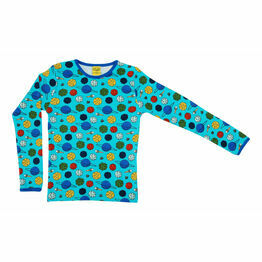 DUNS Small Planets Blue Atoll  Long Sleeve Top