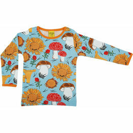 DUNS Sunflowers and Mushrooms Sky Blue  Long Sleeve Top