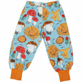 DUNS Sunflowers and Mushrooms Sky Blue Baggy Pants