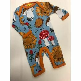 DUNS Sunflowers and Mushrooms Sky Blue Long Sleeve Lap neck Suit