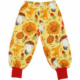 DUNS Sunflowers and Mushrooms Sunshine Yellow Baggy Pants
