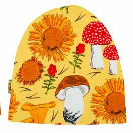 DUNS Winter 2020 Sunflowers and Mushrooms Sunshine Yellow  Double Layer Hat