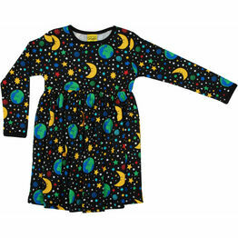 DUNS Mother Earth Black Long Sleeve Gather Dress